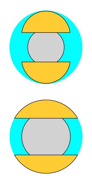 3ミリ球・4ミリ球 断面